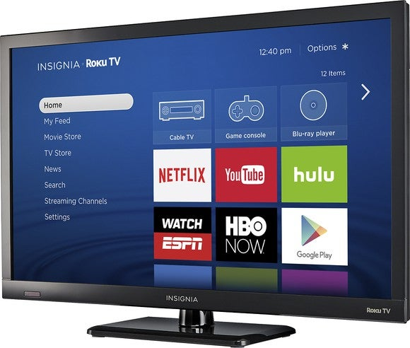 An Insignia Roku TV at Best Buy