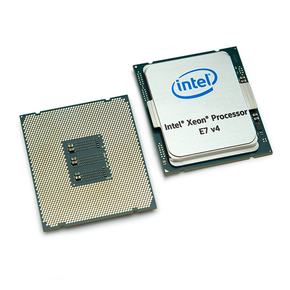 Intel's Xeon E7 v4 chips, in a press image.