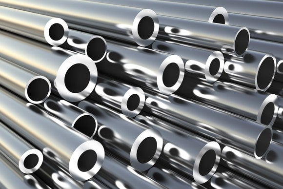 A variety of sizes of aluminum tubes.