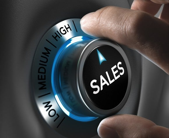 Turning the dial up to high on sales