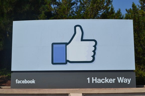 "The Facebook thumbs-up ""like"" logo."