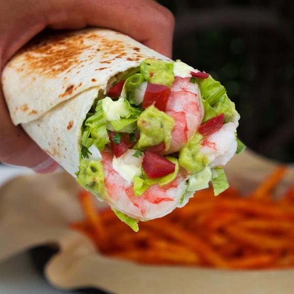 Shrimp and avocado burrito from the Japan Taco Bell menu.