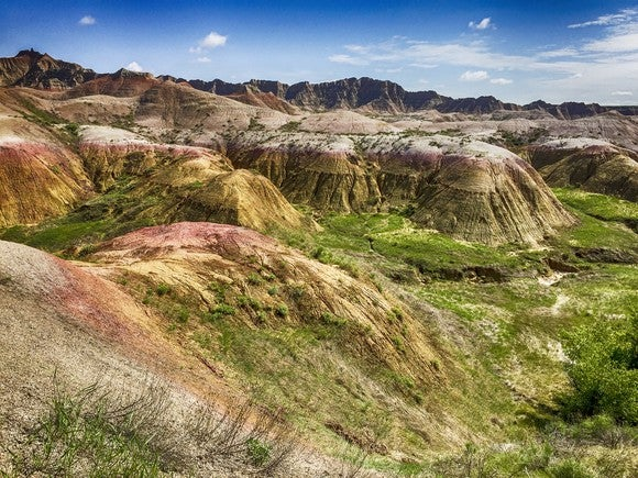 The unique rock formations of Badlands National Park