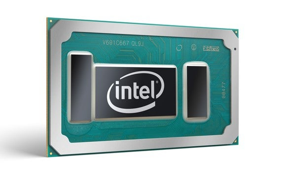 A rendering of an Intel notebook processor