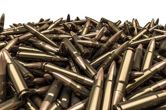 A pile of unused bullets.