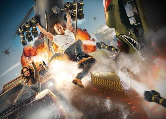 An artist rendering of the upcoming The Fast & The Furious Ride at Universal Studios Orlando.