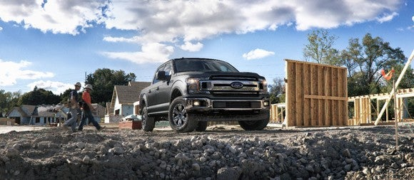 Ford's 2018 F-150 at a construction site.