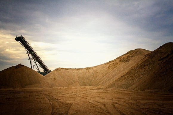 A sand pit