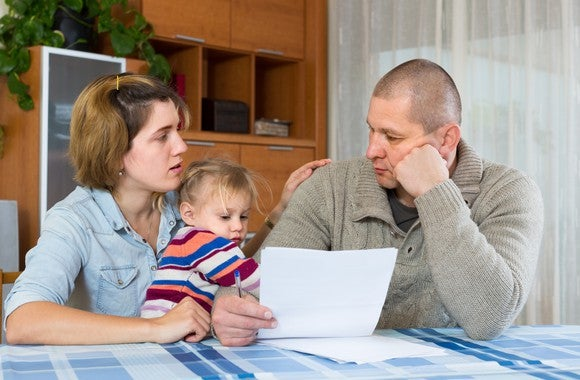 A family worries about finances.