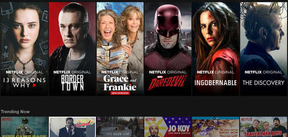 A subscriber's Netflix screen shot.
