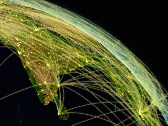 A graphic of India's network.