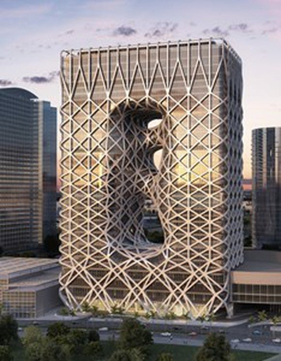 Rendering of the Morpheus tower at City of Dreams.