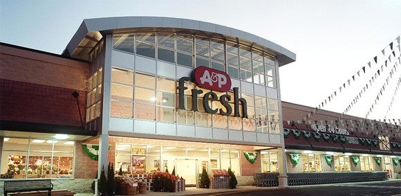 Image of A&P grocery store.