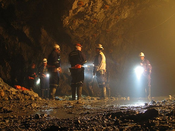 Employees at a McEwen Mine.
