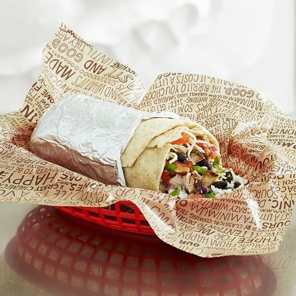 A Chipotle burrito