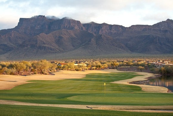 Golf course in Arizona