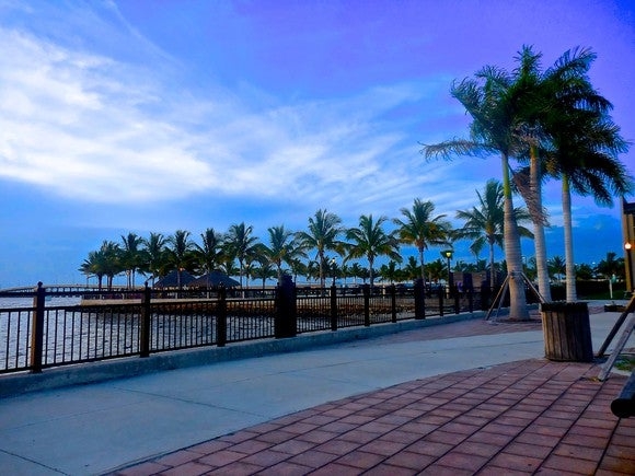 Harbor walk on Charlotte Horbor in Punta Gorda, Florida