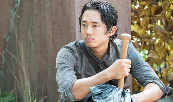 Glenn Rhee, as played by Steven Yeun, ponders his future on The Walking Dead.
