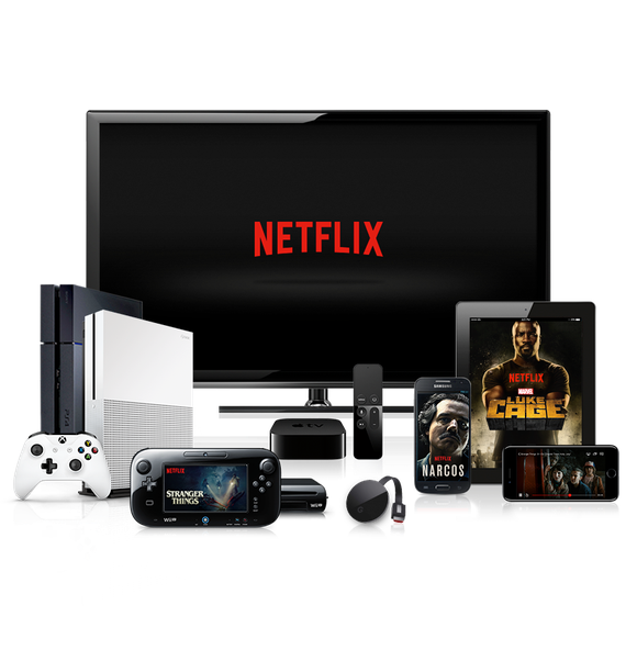 Netflix streaming on multiple devices.
