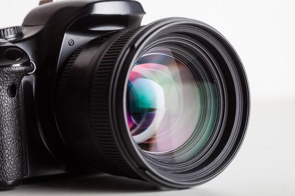Close-up of camera.