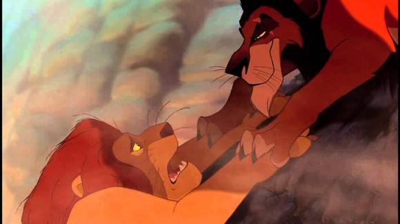 Mufasa vs. Scar.