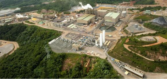 An aerial view of Pueblo Viejo mine.