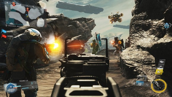 """Screenshot from """"Call of Duty Infinite Warfare."""" Multiplayer games like this are becoming increasingly popular in the eSports world."""