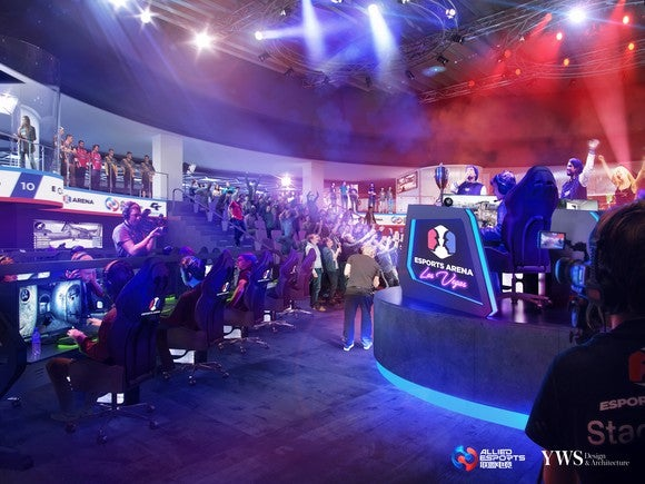 Rendering of the esports arena being built at Luxor.