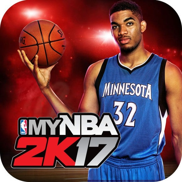 The app icon for Take Two's NBA 2K game for mobile.