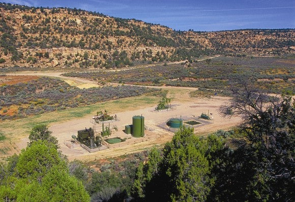 Oil and gas operations in the San Juan Basin.
