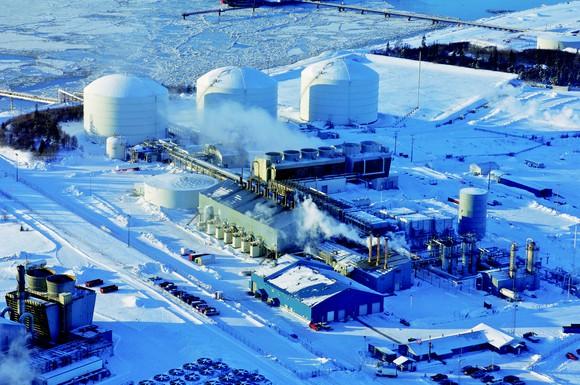 An LNG export facility in Alaska.