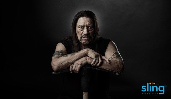 Actor Danny Trejo in an ad for Sling TV.