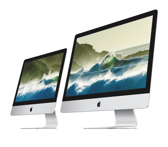 21.5-inch iMac next to 27-inch iMac
