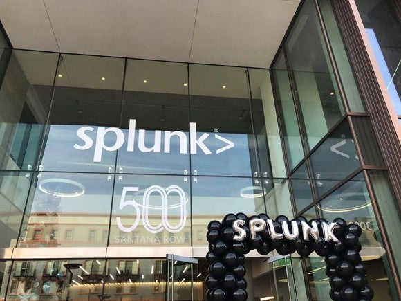 "The Splunk building with a sign that says ""500"""