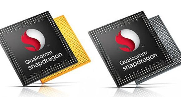 Two Qualcomm Snapdragon chips.