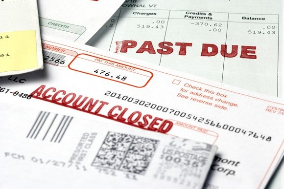 Past due notices from creditors