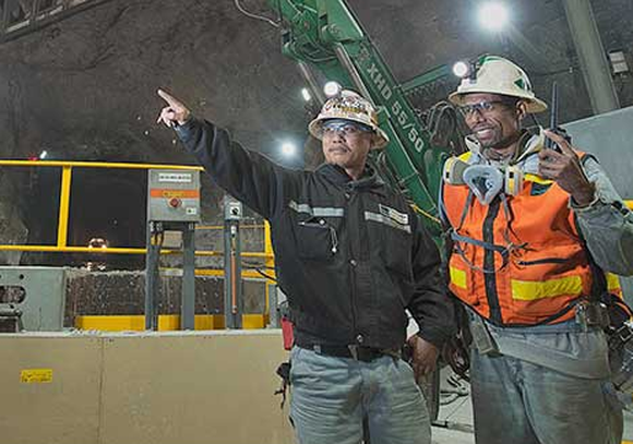 Two Freeport-McMoRan employees.