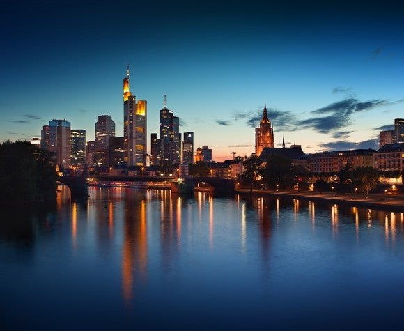 Skyline in Frankfurt, Germany