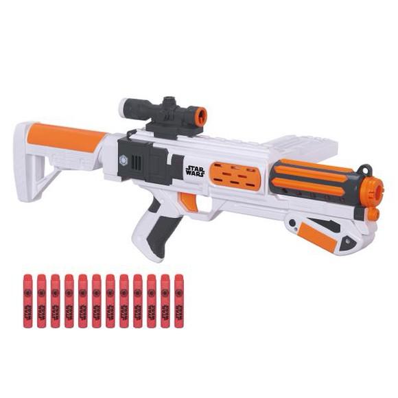 A Nerf toy gun.