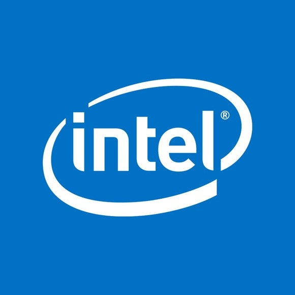 The iconic Intel logo.