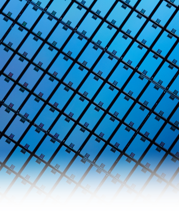 A sheet of semiconductor chips