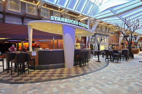 Starbucks on Royal Caribbean's Allure of the Seas cruise ship.