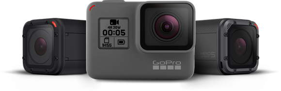 GoPro's HERO5 Session, HERO5 Black, and HERO4 Session cameras.