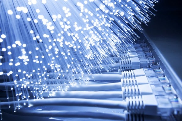 Fiber optic and network cables.