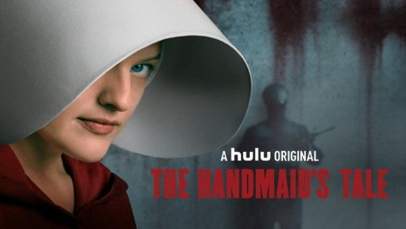 Cover art for The Handmaid's Tale series on Hulu.