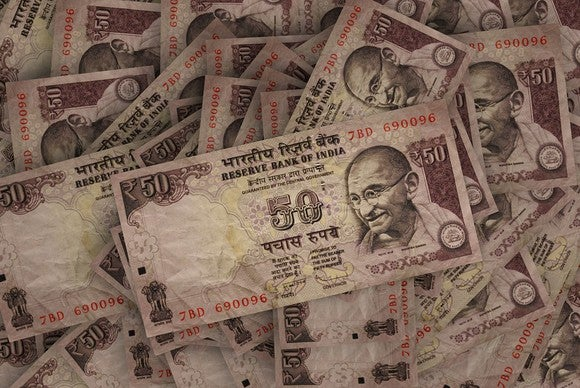 India currency notes.