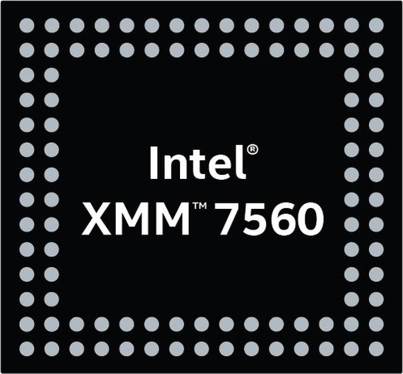 A logo depicting Intel's upcoming XMM 7560 modem.