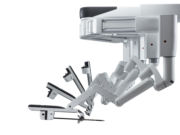 Intuitive Surgical's da Vinci Xi with splayed arms