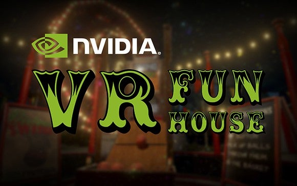 Graphic of NVIDIA's Funhouse VR title.