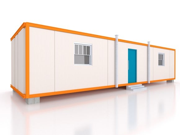 Rendering of a modular building.